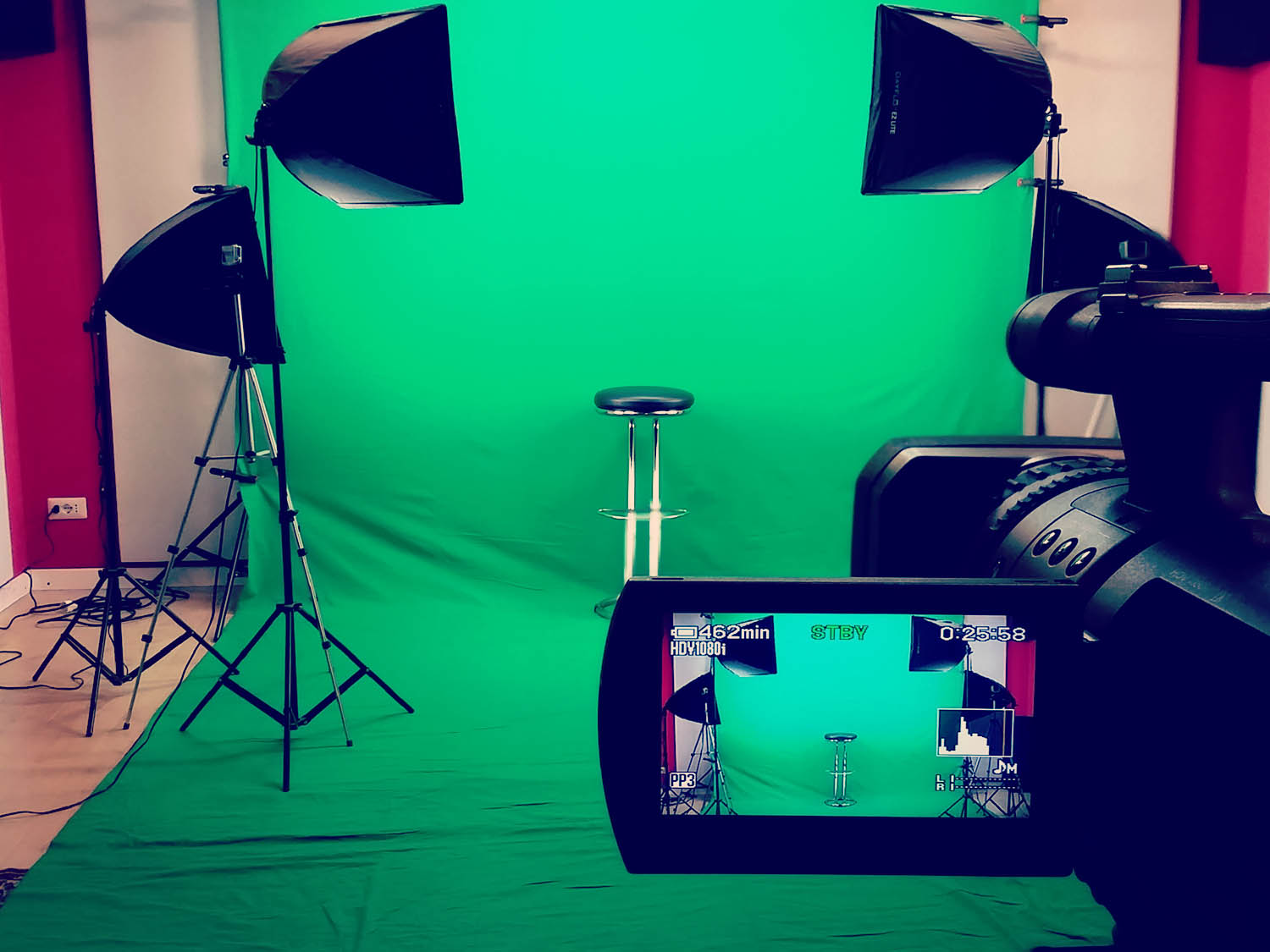 Video per e-learning e video clips con sistema chroma Key